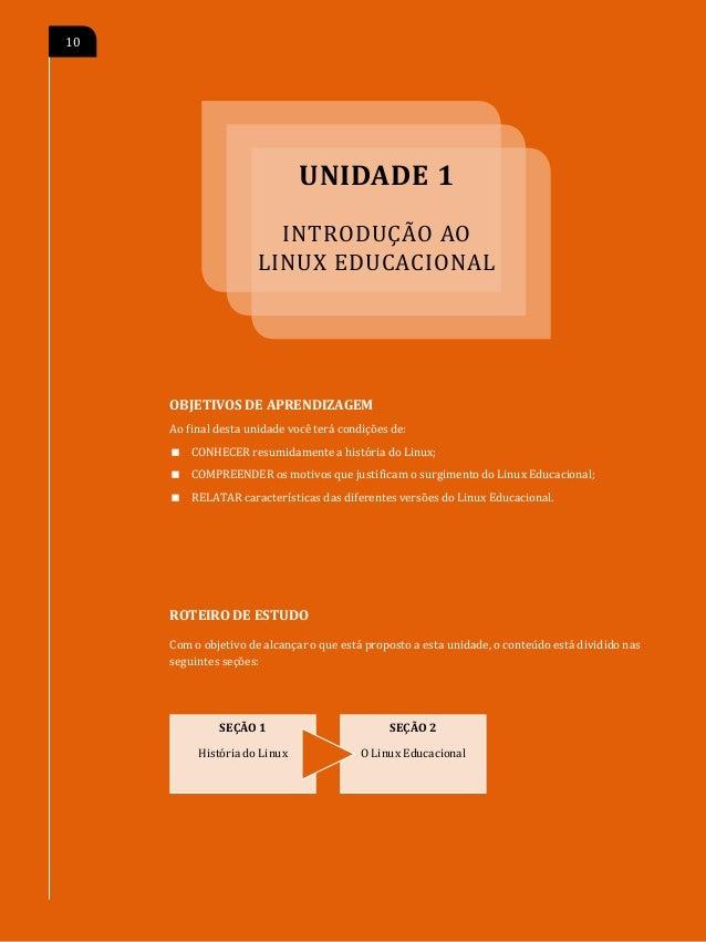 O                                                INTRODUÇÃO AO LINUX EDUCACIONAL   11SEÇÃO 1 História do Linux        Linu...