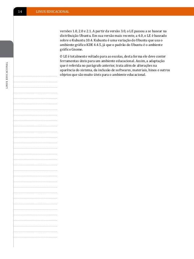 INTRODUÇÃO AO LINUX EDUCACIONAL   15                                       INTRODUÇÃO AO LINUX EDUCACIONAL