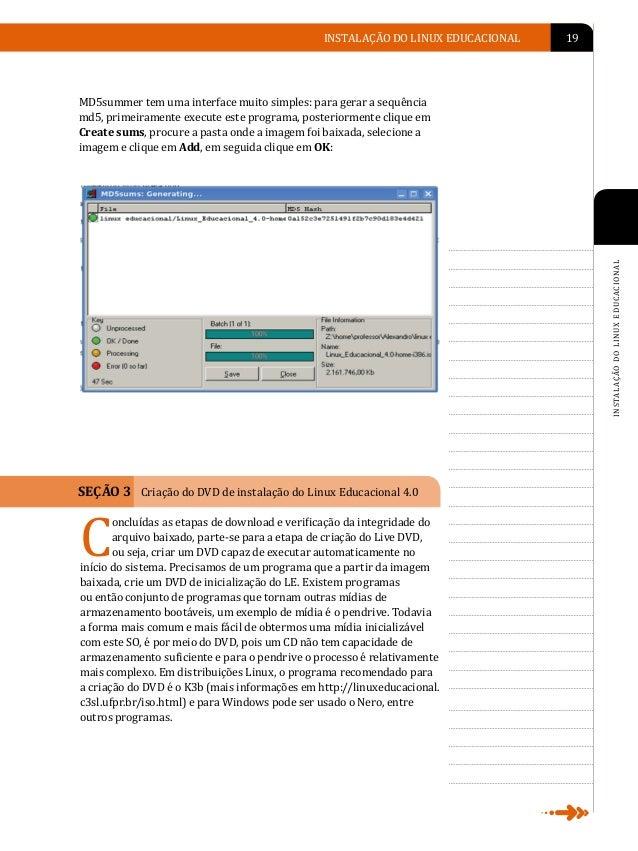 A                    20   LINUX EDUCACIONAL                                                     SEÇÃO 4 Instalação do Virt...