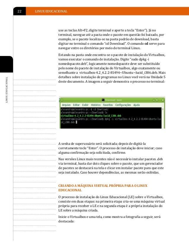 INSTALAÇÃO DO LINUX EDUCACIONAL   23                                                                                      ...
