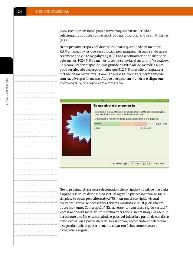 INSTALAÇÃO DO LINUX EDUCACIONAL   25                                                                                      ...