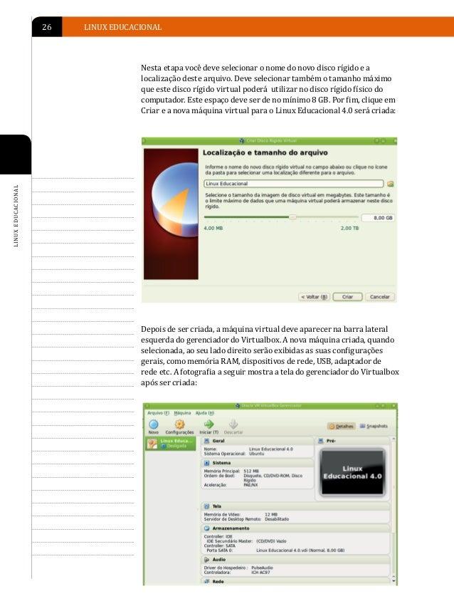 INSTALAÇÃO DO LINUX EDUCACIONAL   27INICIANDO A INSTALAÇÃO DO LINUX EDUCACIONAL SOBRE APara iniciar a instalação do Linux ...