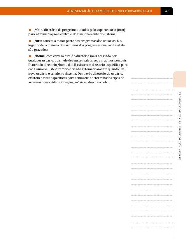 48                              Unidade 4                        ATUALIZAÇÃO DO                      LINUX EDUCACIONAL    ...