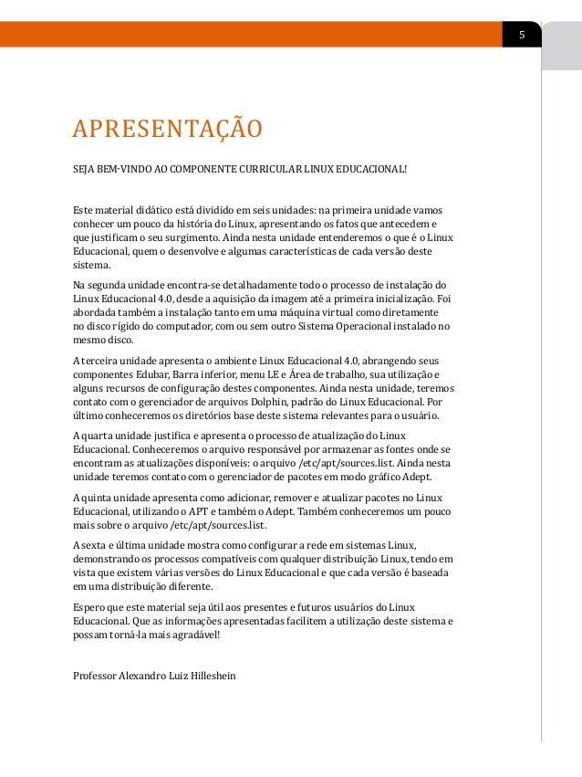 6           PLANO DE           ENSINO-APRENDIZAGEM        EMENTÁRIO                    Introdução e História do Linux Educ...