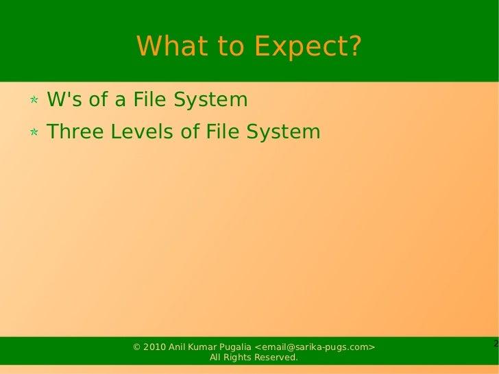 Linux File System Slide 2