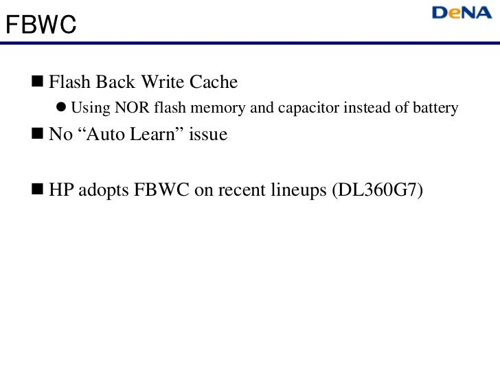 """FBWC  Flash Back Write Cache    Using NOR flash memory and capacitor instead of battery  No """"Auto Learn"""" issue  HP adopts ..."""