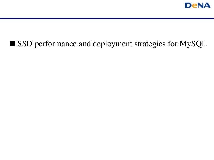 SSD performance and deployment strategies for MySQL