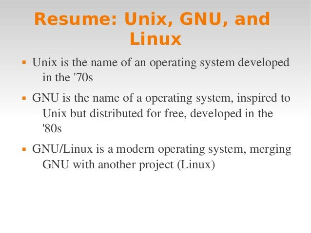 Linux intro 1 definitions