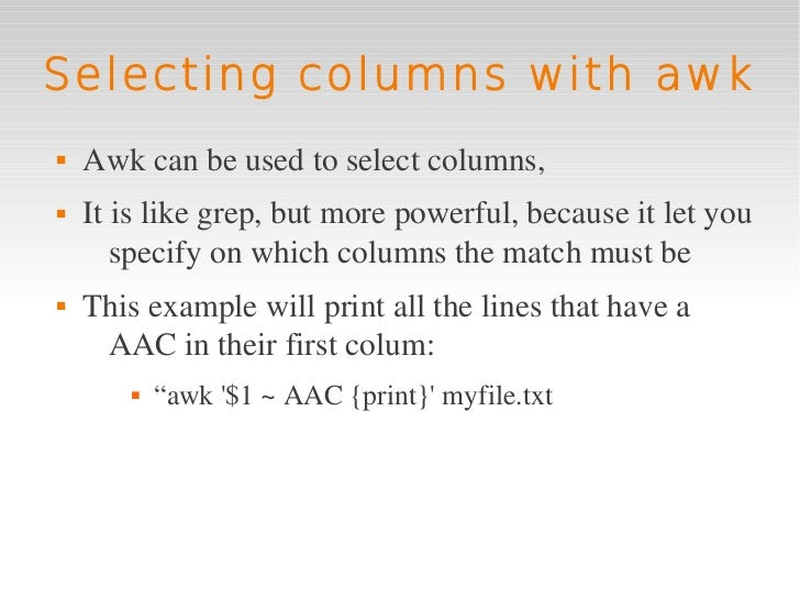 awk command in linux with examples pdf