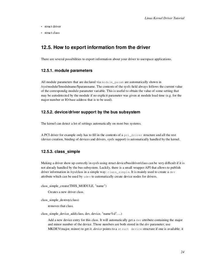Linux pcie driver tutorial