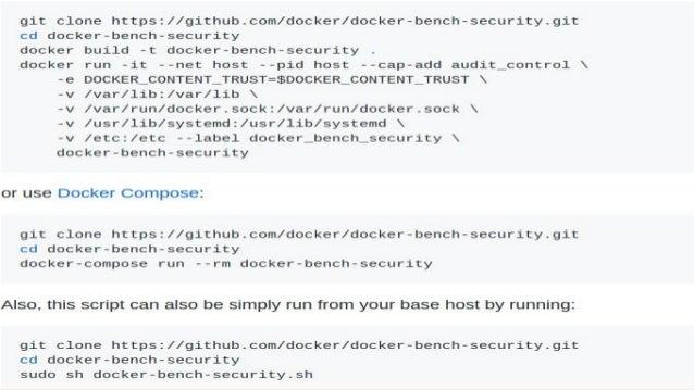 Testing Docker Security Linuxlab 2017