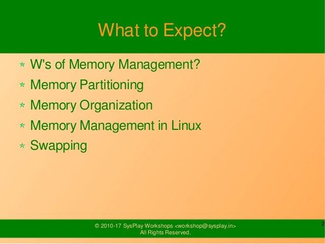 Linux Memory Management Slide 2