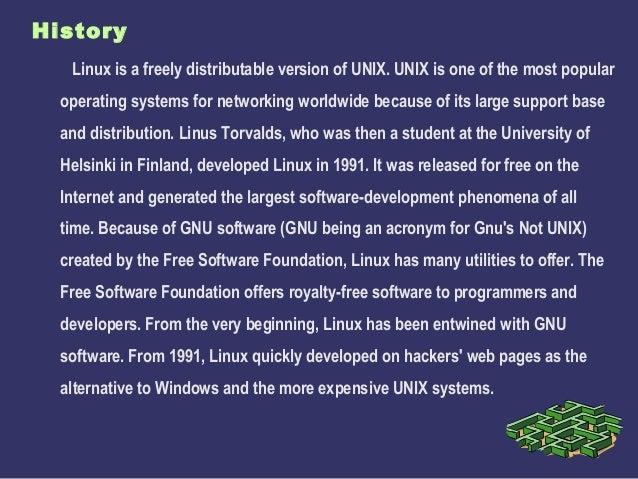 LINUX OS HISTORY EBOOK