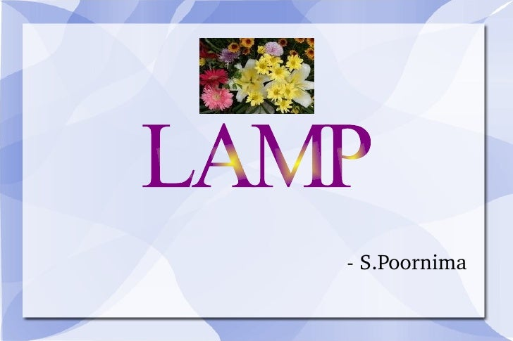 - S.Poornima LAMP