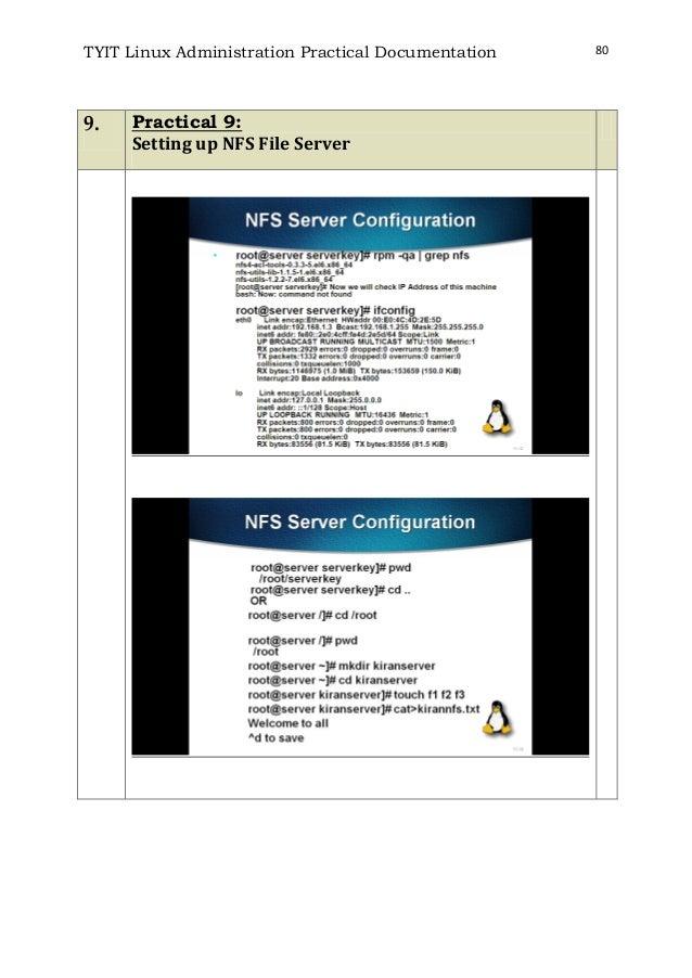Linux practicals T Y B ScIT