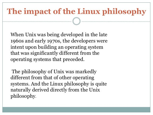 linux and the unix philosophy by mike gancarz pdf