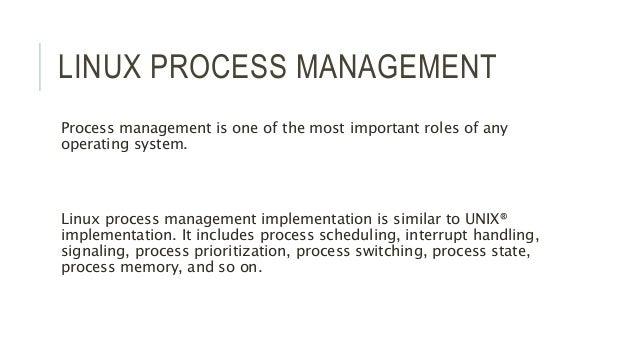 Linux Process Management