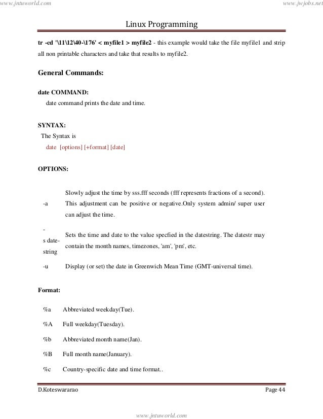 Linux programming lecture_notes