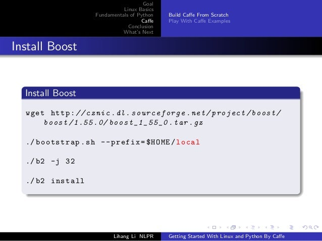 Getting started with Linux and Python by Caffe