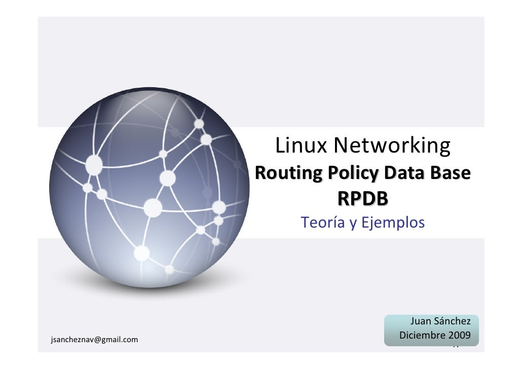 Linux Networking                         Routing Policy Data Base                                   RPDB                  ...