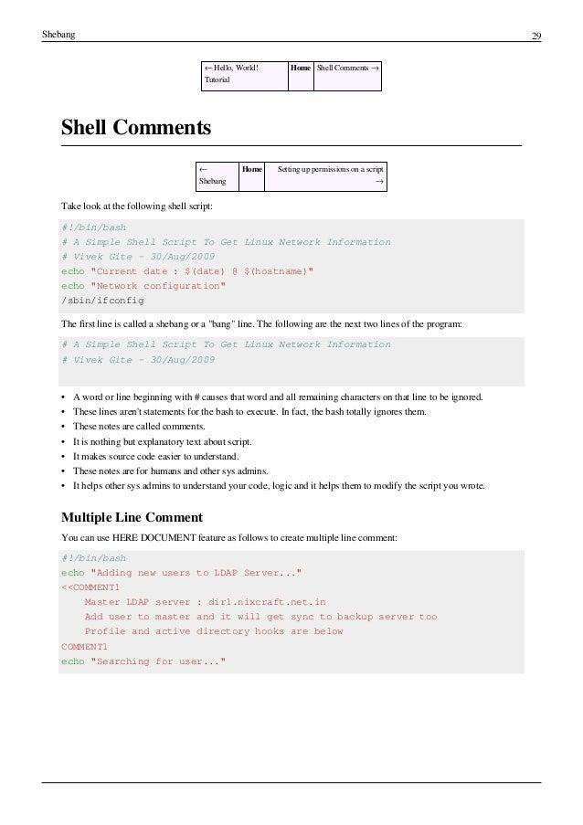 Linux Shell Commands Pdf
