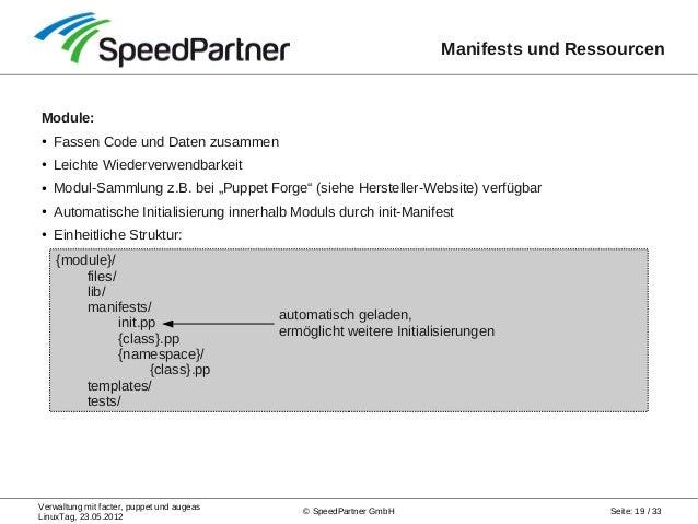 System-Management-Trio: Zentrale Verwaltung mit facter, puppet und au…