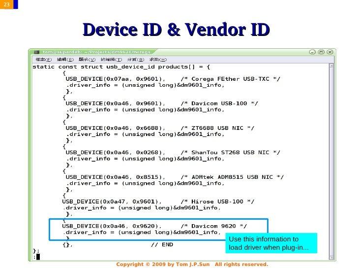 DRIVERS: DAVICOM DM9601 USB NIC