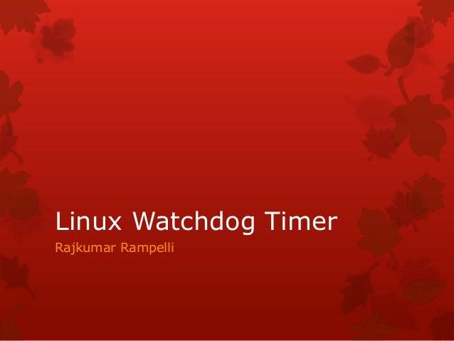 Linux watchdog timer