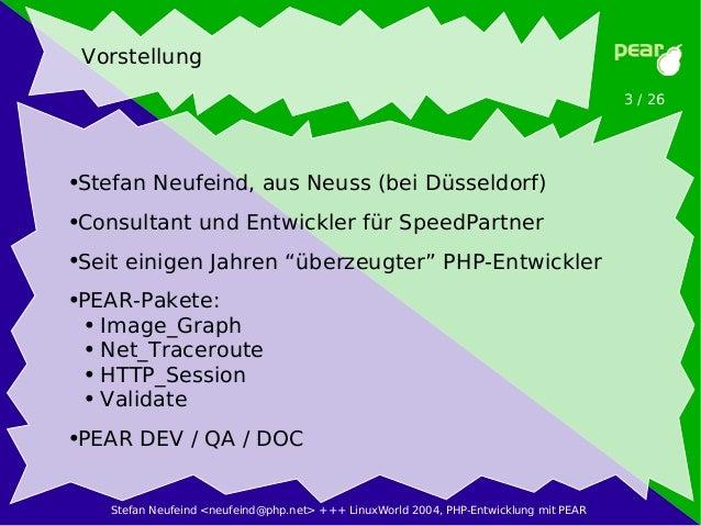 PHP-Entwicklung mit PEAR Slide 3
