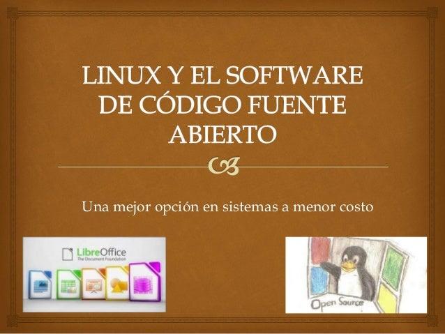 Linux y el software de código fuente abierto