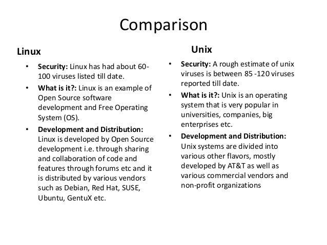 Linux Environment Linux Vs Unix