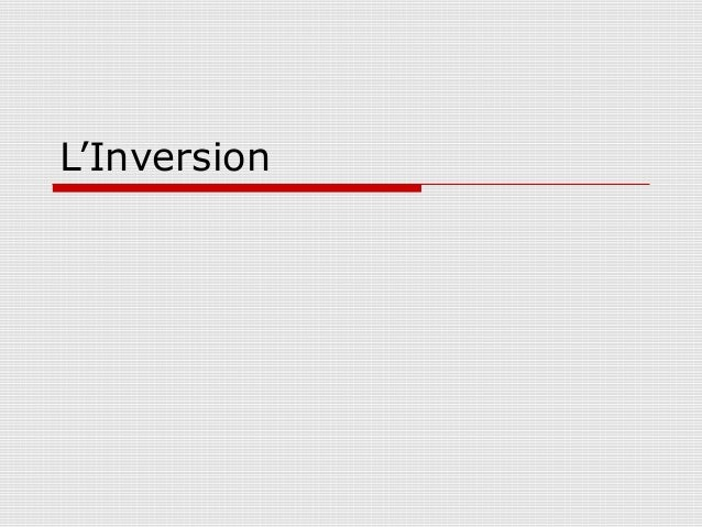 L'Inversion