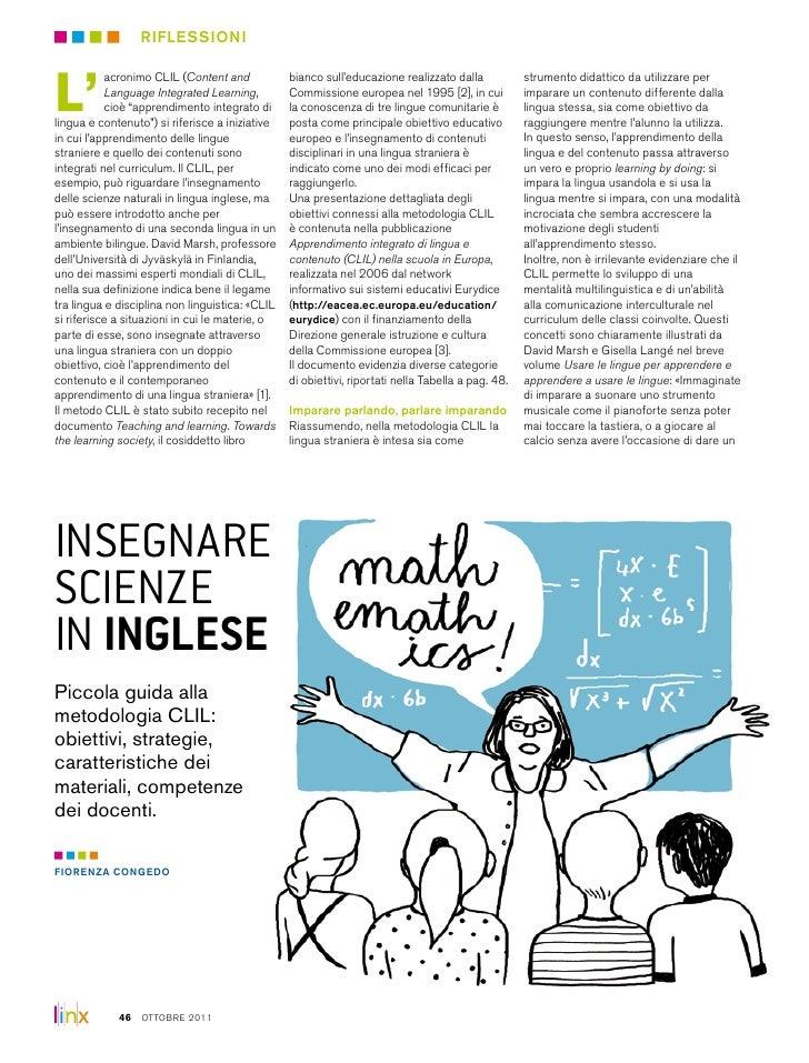 riflessioniL'           acronimo CLIL (Content and            bianco sull'educazione realizzato dalla            strumento...