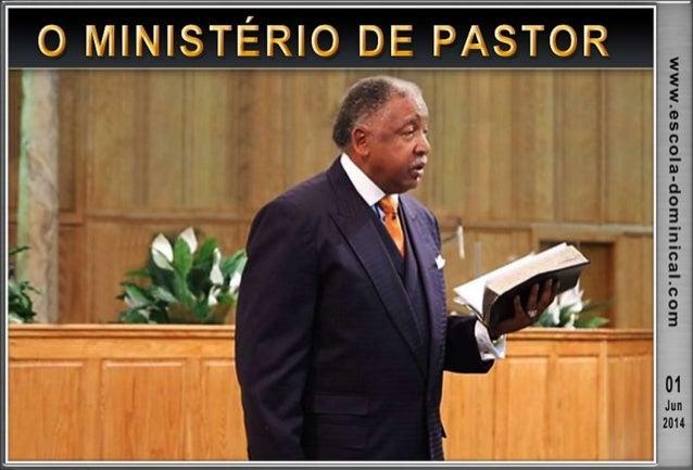 INTRODUÇÃO  Ser pastor sempre foi uma tarefa árdua.  Muitas são as demandas internas e externas da igreja local, entre e...