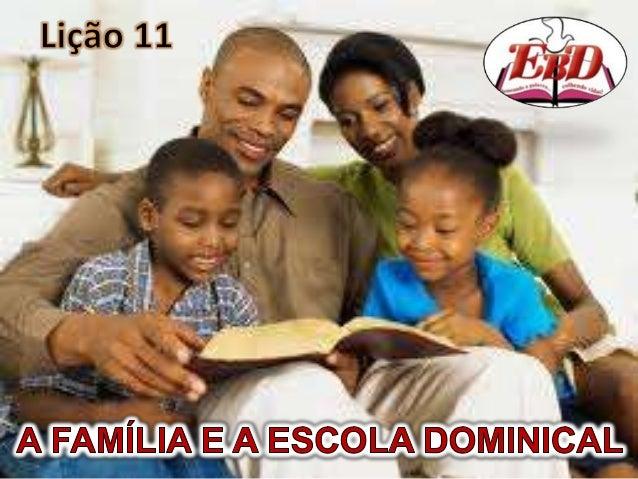 Apreender as finalidades daEscola Dominical.Conhecer a origem da EscolaDominical.Compreender o quanto a EscolaDominical fo...