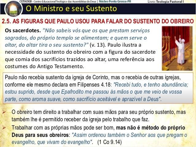 """2.7. PAULO E A LEI DA SEMEADURA O Ministro e seu Sustento  O sustento do obreiro começa pela """"lei da semeadura"""", isto é, ..."""