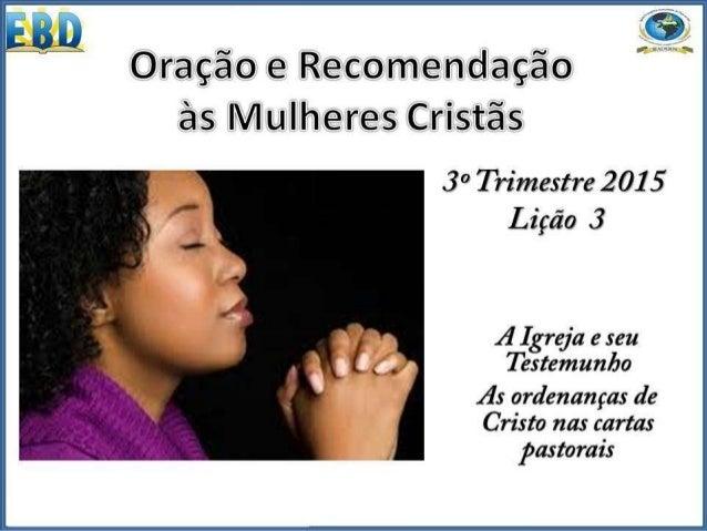 """Admoesto-te, pois, antes de tudo, que se façam deprecações, orações, intercessões e ações de graças por todos os homens."""" ..."""