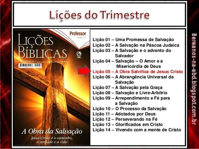 Lição 05 - A Obra Salvífica de Jesus Cristo Slide 3