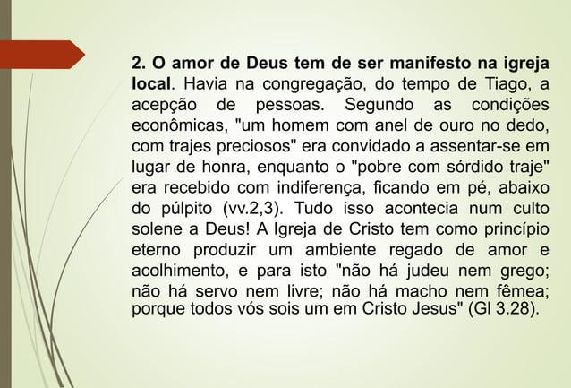 LIÇÃO 06 - A VERDADEIRA FÉ NÃO FAZ ACEPÇÃO DE PESSOAS