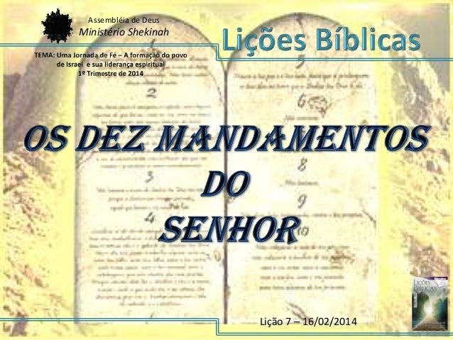 Assembléia de Deus  Ministério Shekinah  Lição 7 – 16/02/2014