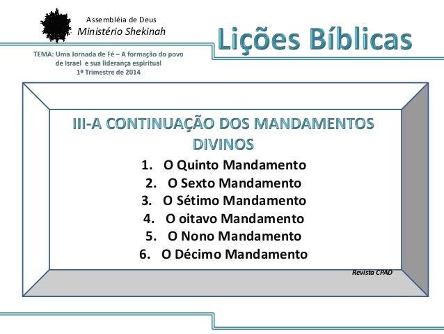 Lio 7 1 14 Os Dez Mandamentos Do Senhor