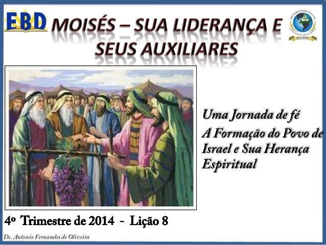 """TEXTO ÁUREO """"Ouve agora a minha voz; eu te aconselharei, e Deus será contigo[...]"""" (Êx 18.19)."""