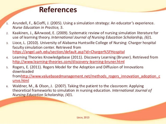 systematic review of the literature on simulation in nursing education Annotated bibliography simulation-based learning in nursing education: systematic review systematic review of nursing simulation literature for use of.