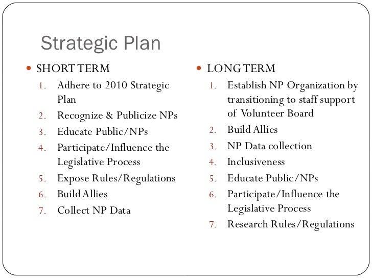 Strategic Plan <ul><li>SHORT TERM </li></ul><ul><ul><li>Adhere to 2010 Strategic Plan </li></ul></ul><ul><ul><li>Recognize...