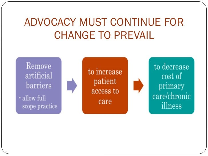 ADVOCACY MUST CONTINUE FOR CHANGE TO PREVAIL