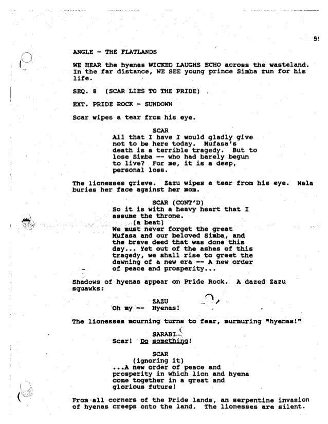 Lion king,-script
