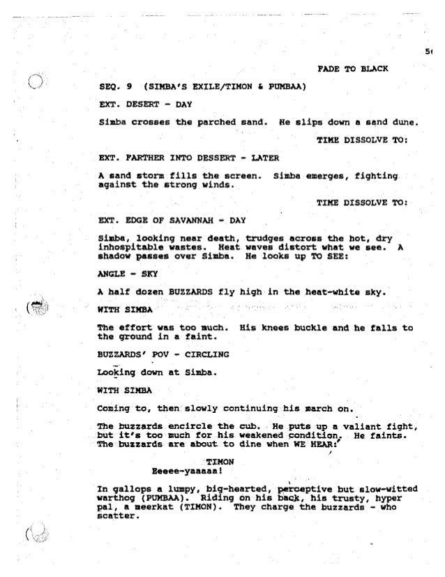 the lion king script pdf