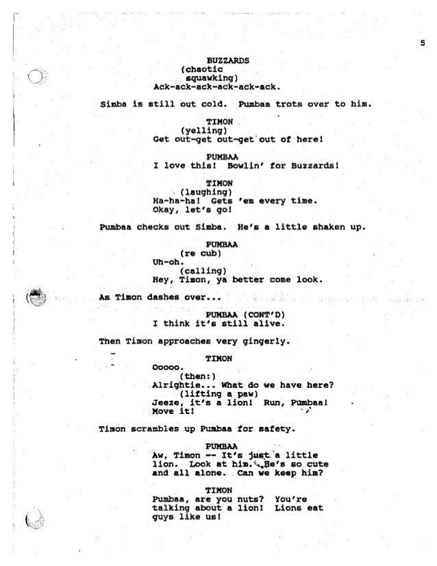 lion king jr script pdf