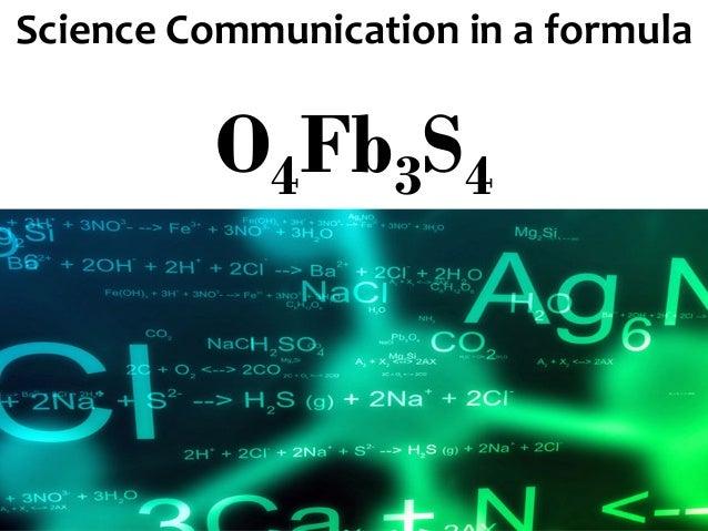 ScienceCommunication inaformula O4Fb3S4