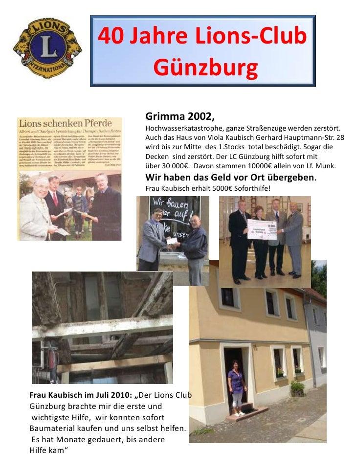 40 Jahre Lions-Club<br />Günzburg<br />Grimma 2002, <br />Hochwasserkatastrophe, ganze Straßenzüge werden zerstört.<br />A...
